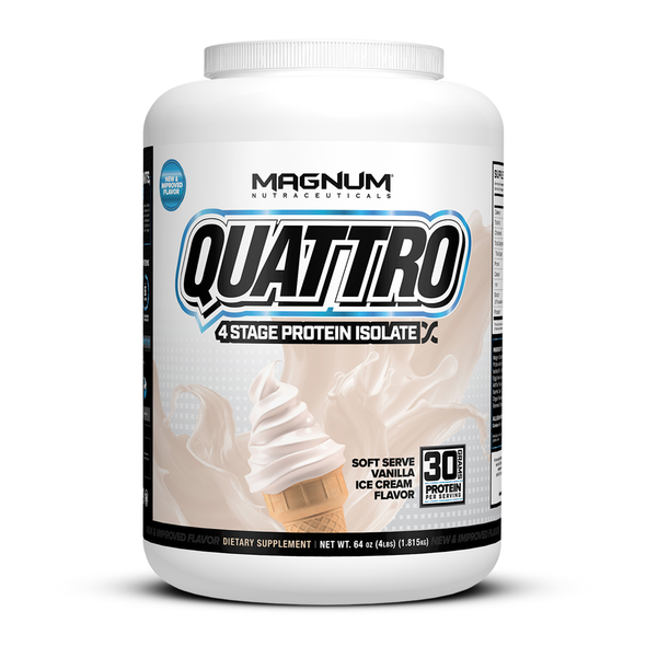 Quattro Multi Isolate Protein 4.0lb Vanilla Ice Cream 'FREE SHIPPING'