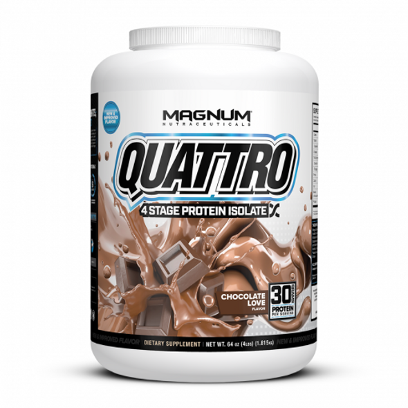Quattro Multi Isolate Protein 4.0lb Chocolate Love 'FREE SHIPPING'