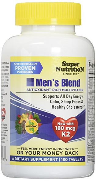 SuperNutrition Men's Blend Multivitamins, 180 Count