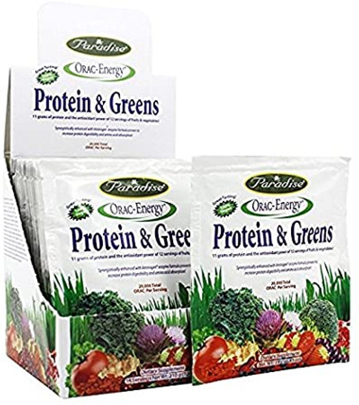 Paradise Herbs Orac-Energy Protein Greens - 14 packets