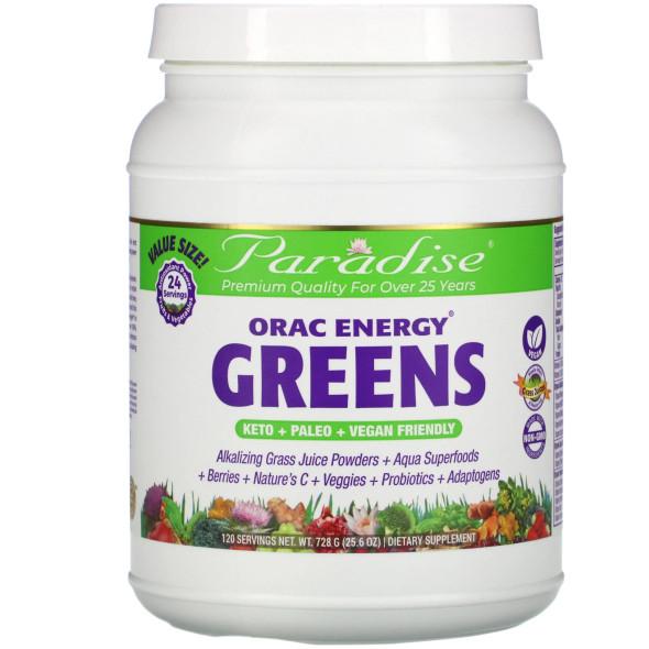 Paradise Herbs, Orac Energy Greens, 25.6 Oz