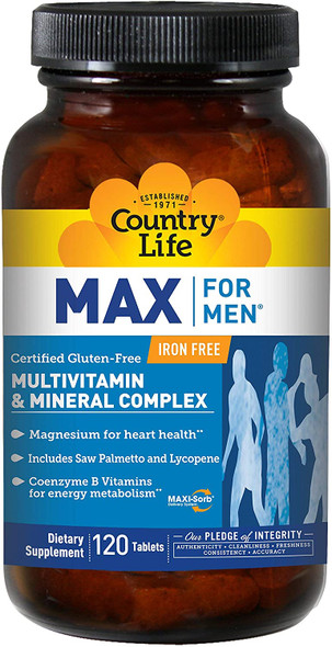 Max For Men Iron Free Country Life