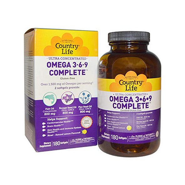 Omega 3.6.9 Complete 180 softgel  Country Life