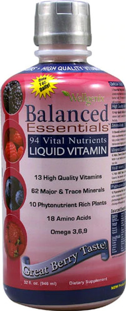 Balanced Essentials Plus  Liquid Vitamins 32oz