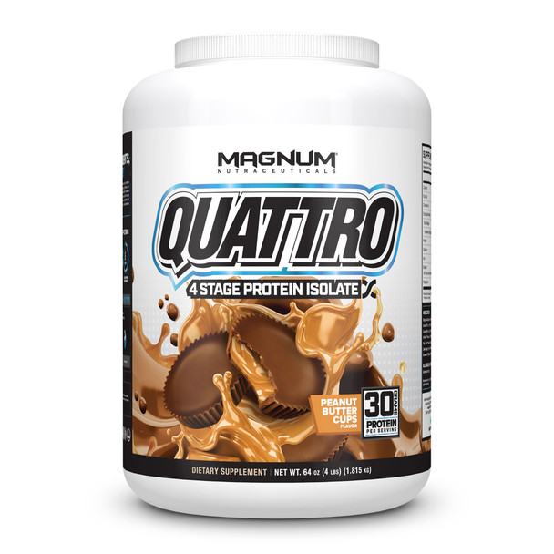 Quattro Multi Isolate Protein 4LB Peanut Butter Cups 'FREE SHIPPING'