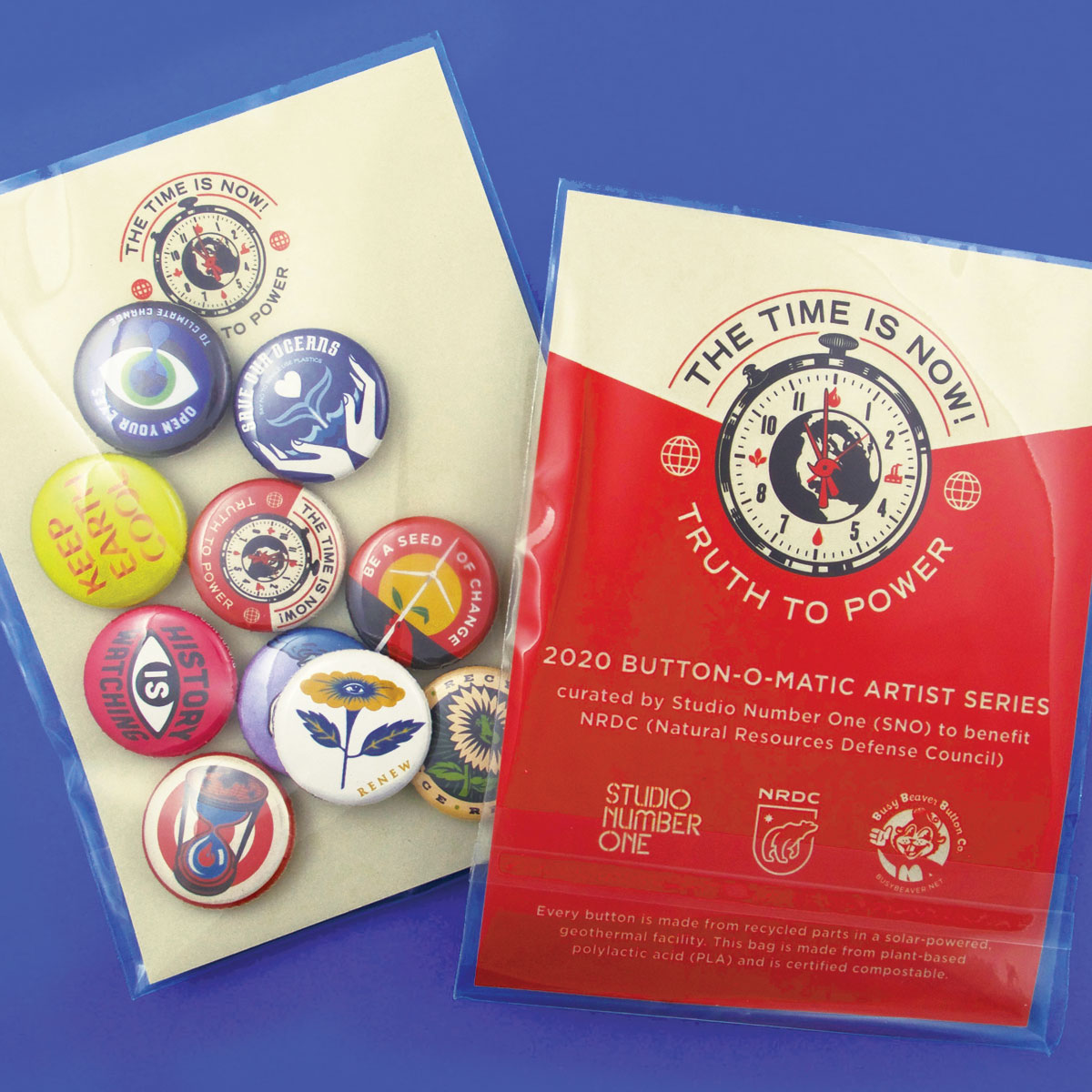 NRDC x Studio Number One Button Pack