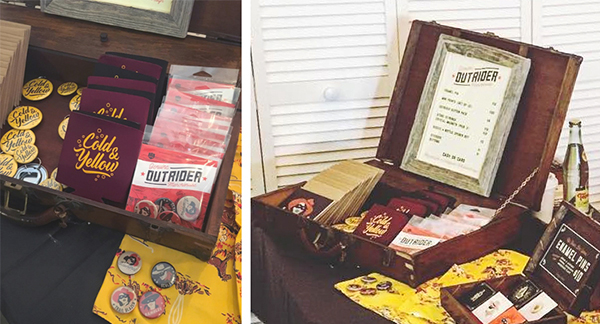 Outrider Design Buttons and Packaging