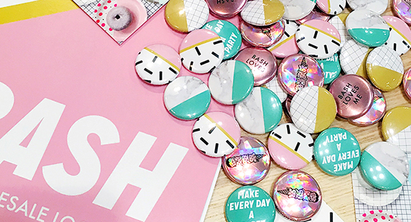 Bash Party Goods Buttons