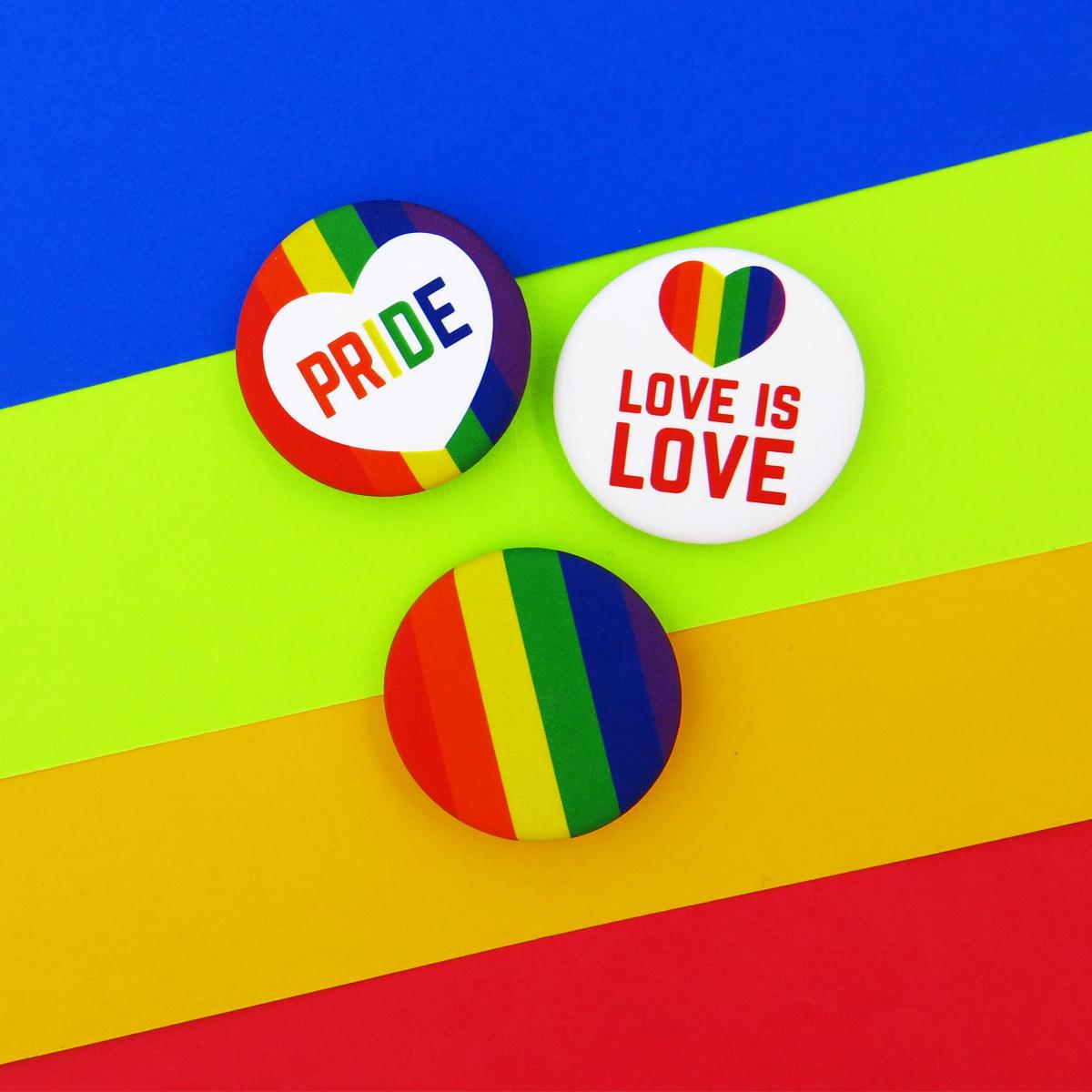LGBTQ Buttons