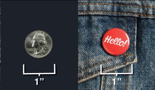 button sizes - 1 inch button