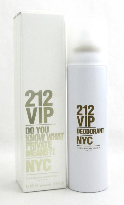 212 VIP by Carolina Herrera 5.1 oz /150 ml Deodorant Spray for Women. New In Box