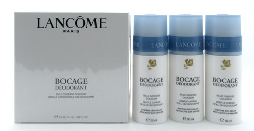 Lancome Bocage 3 PACK Gentle Caress Roll-On Deodorant 3 x 50 ml./ 3 x 1.69 oz. New Sealed Box