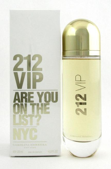 212 VIP by Carolina Herrera 4.2 oz./ 125 ml. Eau de Parfum Spray for Women. New