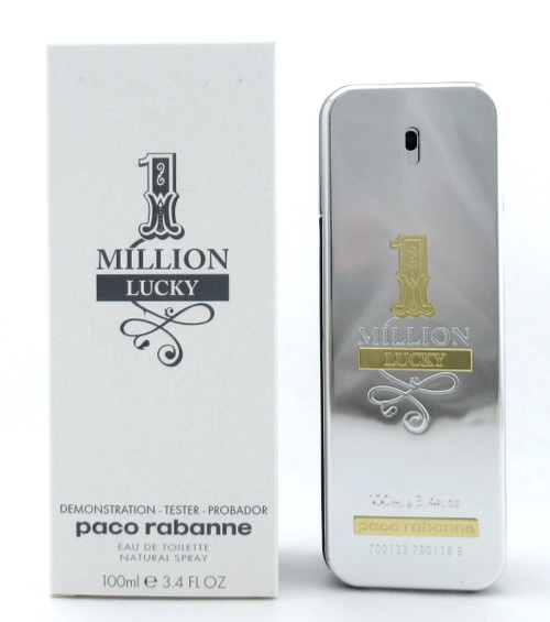 1 One Million Lucky by Paco Rabanne Eau de Toilette Spray for Men 3.4 oz. New Tester