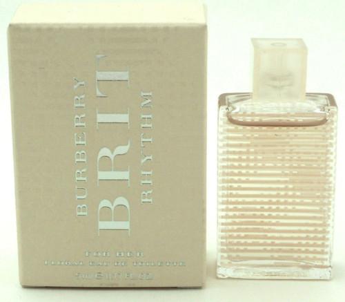 Burberry Brit Rhythm For Her Floral EDT Mini Splash 0 5 ml. NIB