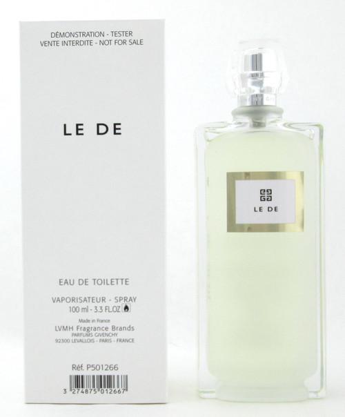 Le De by Givenchy Eau de Toilette Spray for Women 100 ml./ 3.3 oz. Tester