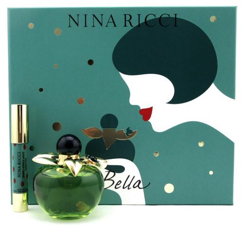 Bella by Nina Ricci Set for Women: 2.7 oz.EDT Spray+2.5 g.Red Lipstick. New Set.