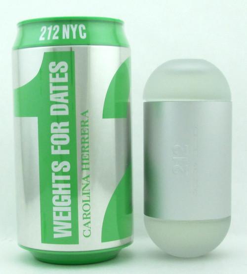 "212 NYC Carolina Herrera Eau De Toilette Spray for Women ""Weights For Her"" Edition 100 ml./ 3.4 oz. NIB"