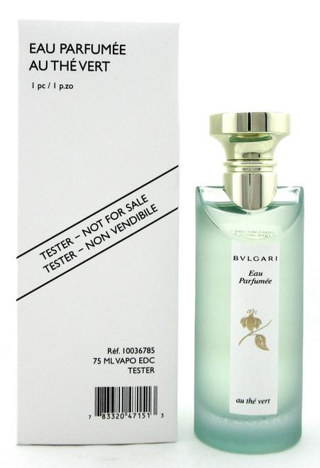 Bvlagari Eau Parfumee Au The Vert 2.5 oz./ 75 ml. Eau de Cologne Spray Unisex. New Tester w/Cap