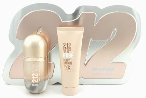 212 VIP Rose Perfume by Carolina Herrera 1.7 oz EDP Spray +2.5 oz.Lotion New Set