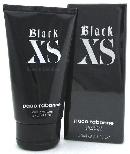Black XS Black Excess by Paco Rabanne 5.1 oz./ 150 ml. Shower Gel for Men.