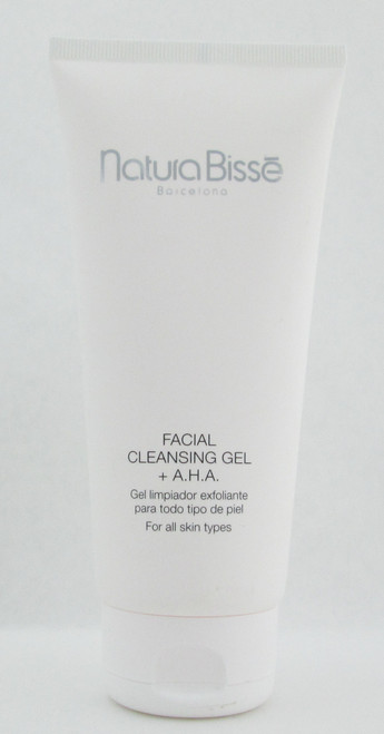 Natura Bisse Facial Cleansing Gel + A.H.A For All Skin Types 7 oz./ 200 ml. NEW Tester