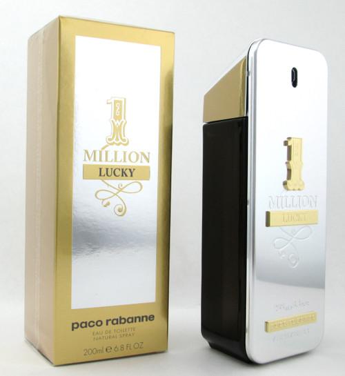 1 Million Lucky by Paco Rabanne Eau De Toilette Spray for Men 200 ml./ 6.8 oz. New