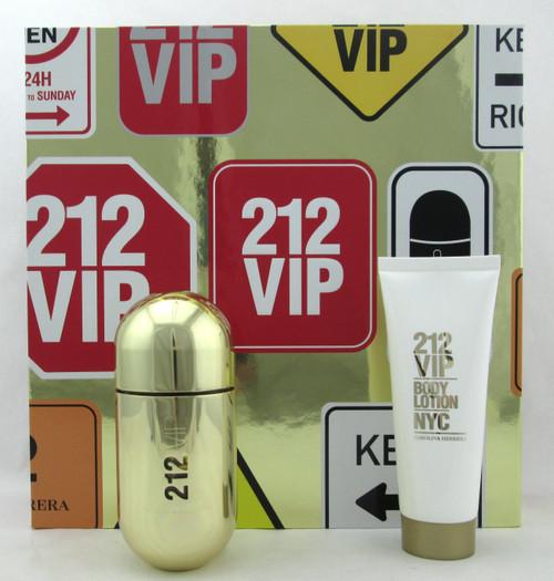 212 VIP by Carolina Herrera SET for Women: 1.7 oz. EDP Spray + 2.5 oz. B/Lotion