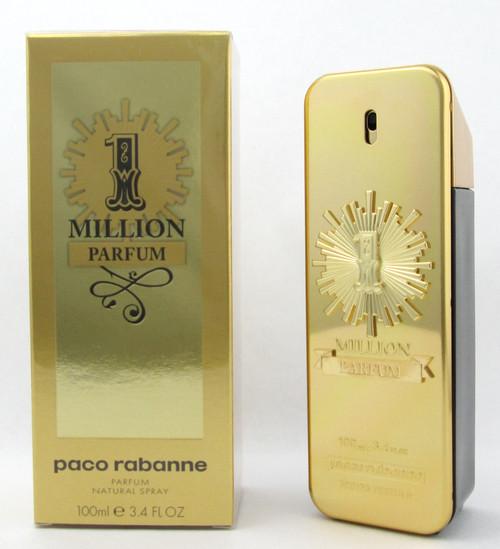 1 Million Parfum by Paco Rabanne 3.4 oz. Parfum Spray for Men New