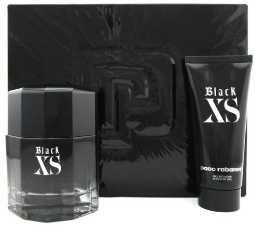 Black XS EXCESS by Paco Rabanne 3.4 oz.EDT Spray + 3.4 oz.Sh/Gel.New SET for Men