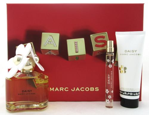 Daisy by Marc Jacobs 3.4 oz.& 10 ml. EDT Spray + 2.5 oz. B/Lot. New Women's Set