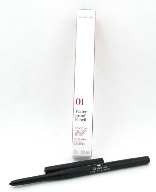 Clarins Waterproof Eye Pencil Black Tulip 01 Long Lasting 0.01 oz. Brand New