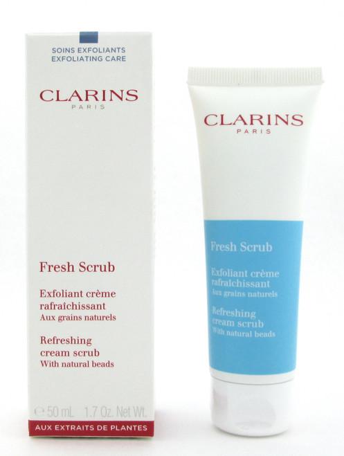Clarins Fresh Scrub Refreshing Scrub Cream with natural beads 50 ml./1.7 oz. New