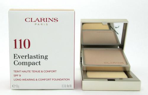 Clarins Everlasting Compact Foundation SPF 9  # 110 Honey 10 g./ 0.3 oz. New