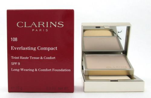Clarins Everlasting Compact Foundation SPF 9  # 108 Sand 10 g./ 0.3 oz. New