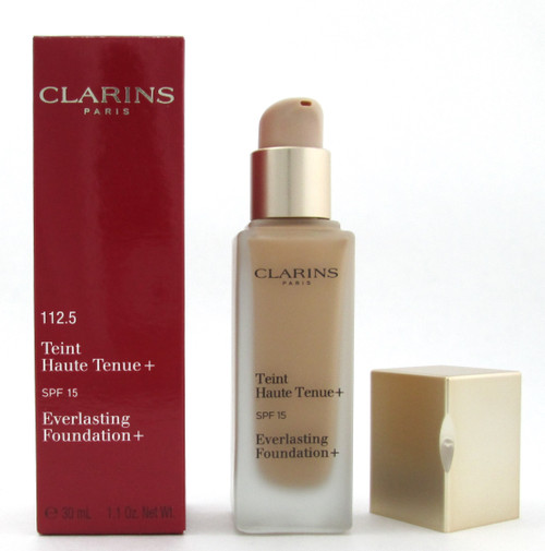 Clarins Everlasting Foundation+ SPF15 # 112.5 Caramel 30 ml./ 1.1 oz. New