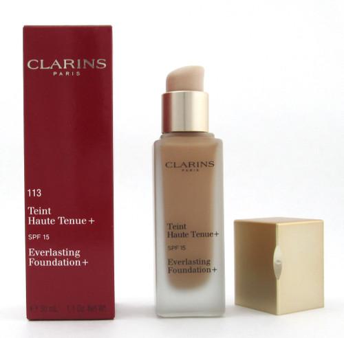 Clarins Everlasting Foundation+ SPF15 # 113 Chestnut 30 ml./ 1.1 oz. New