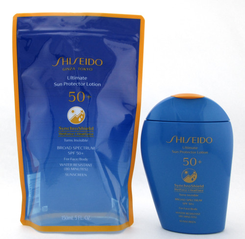 Shiseido Ultimate Sun Protector Lotion SPF50+ Synchro Shield 150 ml./ 5.0 oz. New