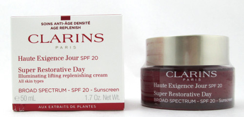 Clarins Super Restorative Day Cream SPF 20 All Skin Types 1.7 oz. Damaged Box