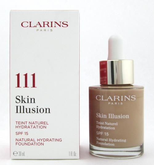 Clarins Skin Illusion Natural Hydrating Foundation SPF 15  #111 Auburn 1 oz. New