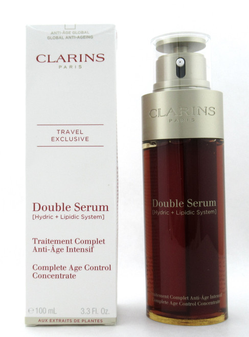 Clarins Double Serum Complete Age Control Concentrate 3.3 oz. New Damaged Box