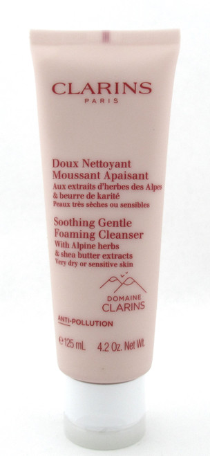Clarins Soothing Gentle Foaming Cleanser Very Dry Sensitive Skin 4.2 oz. Sealed