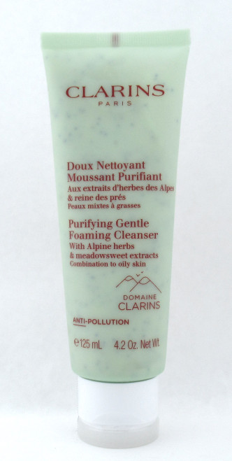 Clarins Purifying Gentle Foaming Cleanser Combination Oily Skin 4.2 oz. Sealed