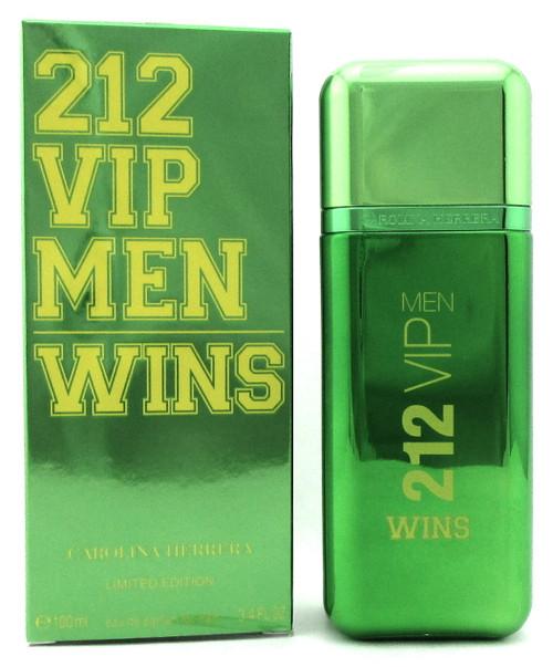 212 VIP MEN WINS by Carolina Herrera 3.4 oz. EDP Spray for Men. New in Box