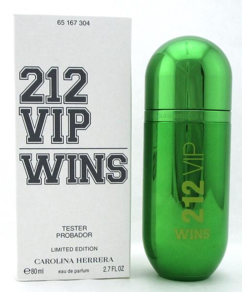 212 VIP WINS by Carolina Herrera 2.7 oz. EDP Spray for Women. New Tester w/Cap