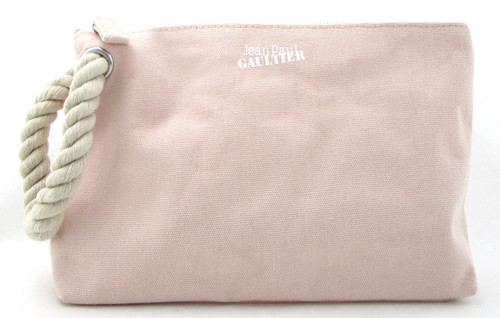 Jean Paul Gaultier Pink Canvas Toiletry Travel Bag for Women. Brand NEW.