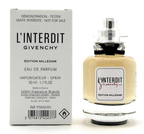 Givenchy L'interdit Edition Millesime 1.7 oz. EDP Spray for Women. New Tester w/Cap