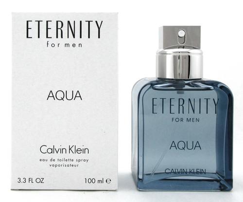 Eternity AQUA by Calvin Klein for Men 3.3 oz. Eau de Toilette Spray. New Tester