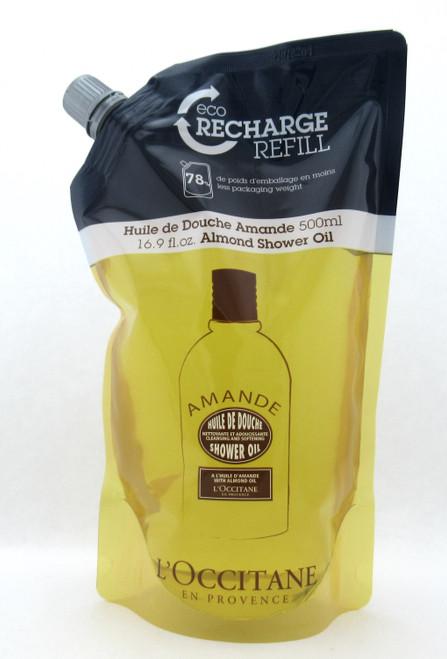 L'Occitane Almond Shower Oil Refill 500 ml./ 16.9 oz. New