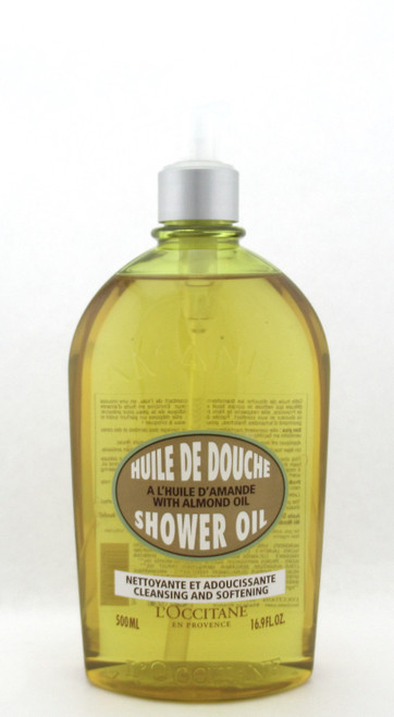 L'Occitane Shower Oil Cleansing & Softening with Almond Oil 500 ml./16.9 oz. New